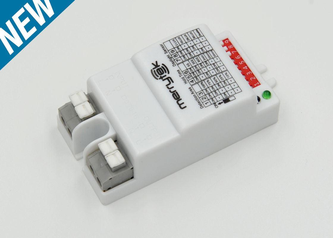 Smart Microwave Motion Sensor MC030S With Compact Size 69mm*35.5mm*25.5mm 220-240vAC Operated For On-off Function